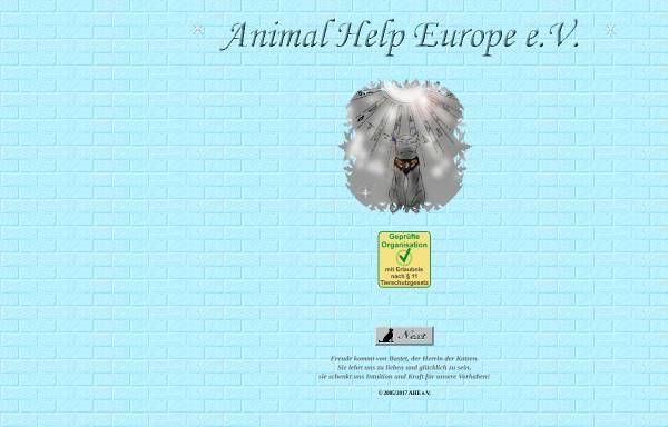 Vorschau von www.animalhelpeurope.de, Animal Help Europe