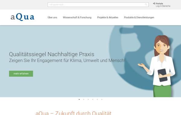 Vorschau von www.aqua-institut.de, AQUA Institut für angewandte Qualitätsförderung und Forschung im Gesundheitswesen GmbH