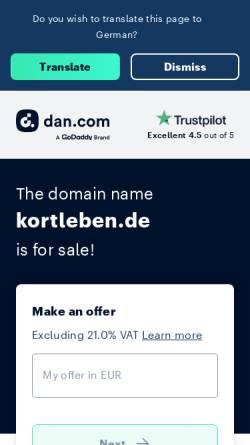 Vorschau der mobilen Webseite www.kortleben.de, Dr. Kortleben