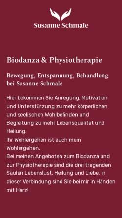 Vorschau der mobilen Webseite www.susanneschmale.de, Susanne Schmale - Biodanza und Physiotherapie