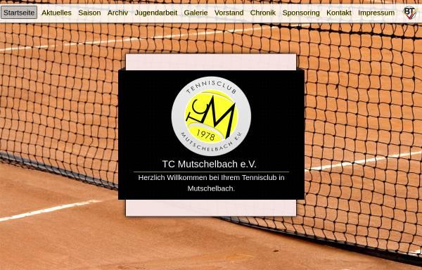 Vorschau von www.tc-mutschelbach.de, Tennisclub Mutschelbach