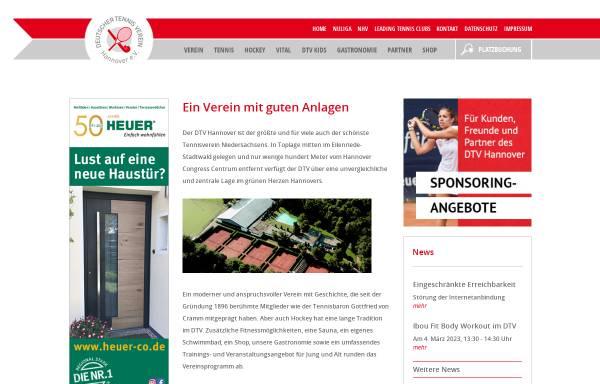 Vorschau von dtv-hannover.de, Deutscher Tennisverein Hannover e.V.