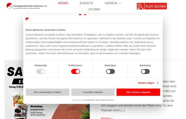 Vorschau von tghannover.de, Tennisgemeinschaft Hannover e.V.