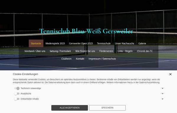 Vorschau von www.tc-gersweiler.de, TC Blau Weiß Gersweiler e.V.