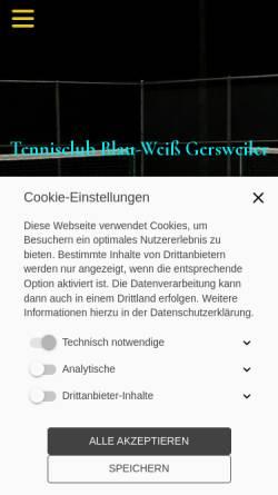 Vorschau der mobilen Webseite www.tc-gersweiler.de, TC Blau Weiß Gersweiler e.V.