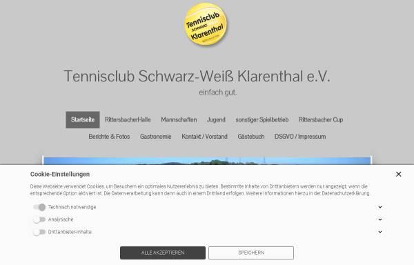 Vorschau von www.tc-klarenthal.de, TC Schwarz Weiß Klarenthal e.V.
