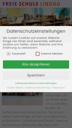 Vorschau der mobilen Webseite www.freieschulelindau.de, Freie Schule Lindau