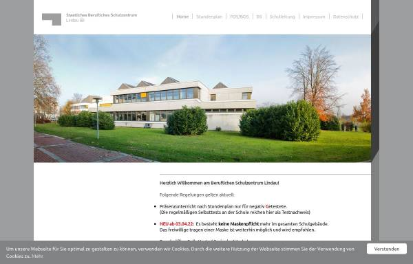 Vorschau von www.bsz-lindau.de, Staatliche Berufsschule und Berufsfachschule für Gastronomie