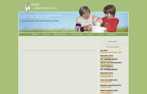 Vorschau von www.oase-lebenskreis.de, OASE-Lebenskreis e.V.