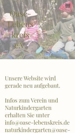 Vorschau der mobilen Webseite www.oase-lebenskreis.de, OASE-Lebenskreis e.V.