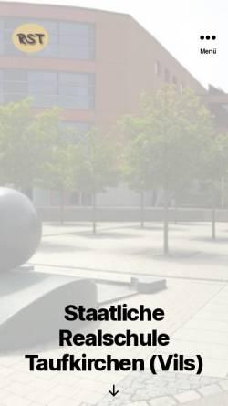 Vorschau der mobilen Webseite www.rstaufkirchen.de, Staatliche Realschule Taufkirchen/Vils