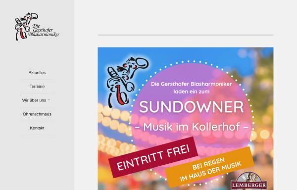 Vorschau von www.blasharmoniker.de, Gersthofer Blasharmoniker e.V.