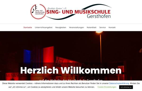 Vorschau von musikschule-gersthofen.de, Sing- und Musikschule Gersthofen