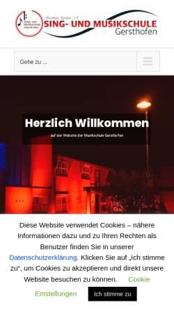Vorschau der mobilen Webseite musikschule-gersthofen.de, Sing- und Musikschule Gersthofen