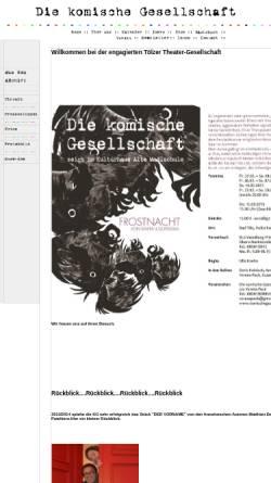 Vorschau der mobilen Webseite m7s23.vlinux.de, Die Komische Gesellschaft e. V.