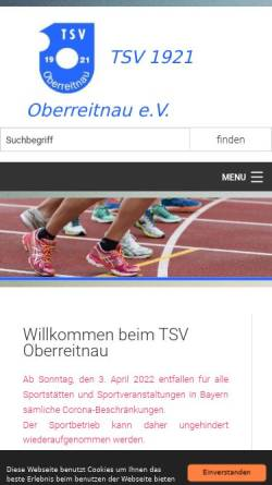 Vorschau der mobilen Webseite www.tsv-oberreitnau.de, TSV 1921 Oberreitnau e.V.