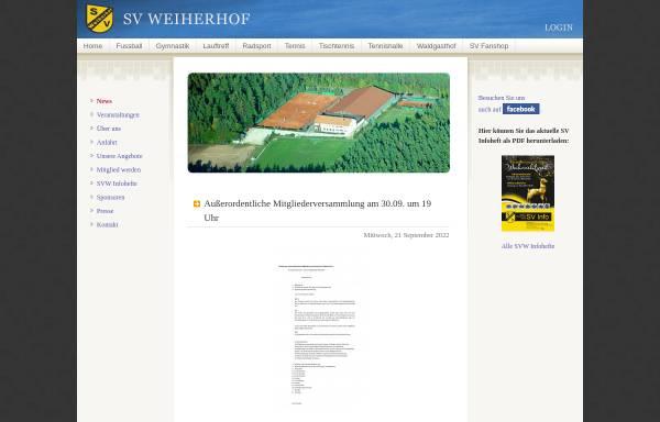 Vorschau von www.svweiherhof.de, Sportverein SV Weiherhof e.V.