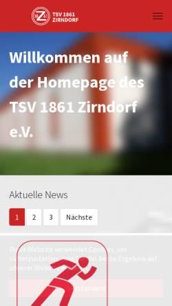 Vorschau der mobilen Webseite www.tsv-zirndorf.de, TSV 1861 Zirndorf.a.V.