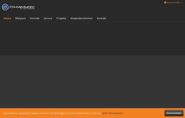 Vorschau von www.cn-mediatec.de, CN-Mediatec GmbH Ton- Licht und Tourtechnik