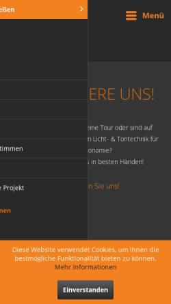 Vorschau der mobilen Webseite www.cn-mediatec.de, CN-Mediatec GmbH Ton- Licht und Tourtechnik