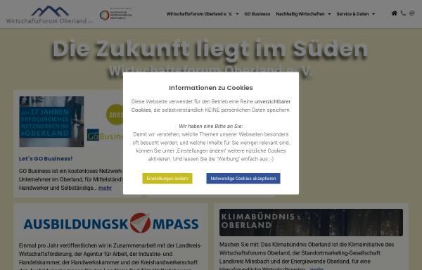 Vorschau von geschaeftskontakte-oberland.de, Geschäftskontakte Oberland