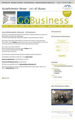 Vorschau der mobilen Webseite geschaeftskontakte-oberland.de, Geschäftskontakte Oberland