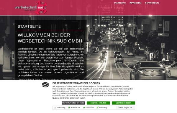 Vorschau von www.werbetechnik-sued.de, Werbetechnik Süd GmbH - Klaus Wankerl
