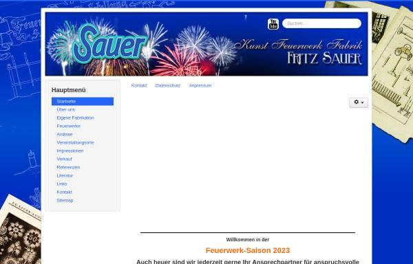Vorschau von www.feuerwerk-sauer.de, Kunst Feuerwerk Fabrik, Fritz Sauer KG