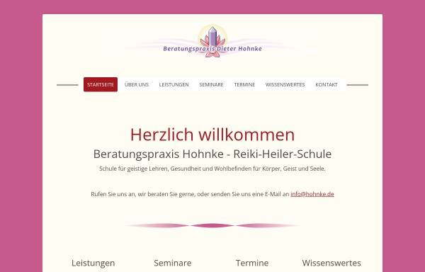 Vorschau von www.hohnke.de, Lotus Mineralien + Esoterik
