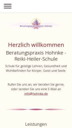 Vorschau der mobilen Webseite www.hohnke.de, Lotus Mineralien + Esoterik