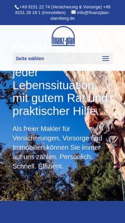 Vorschau der mobilen Webseite www.finanzplan-starnberg.de, Finanz-Plan