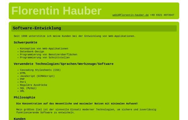 Vorschau von www.florentin-hauber.de, Florentin Hauber Internet Services