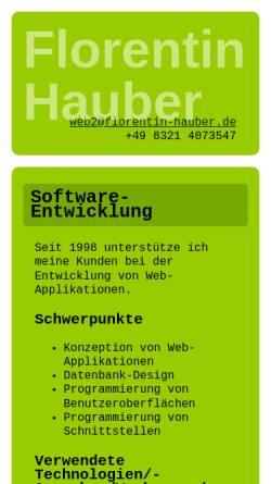 Vorschau der mobilen Webseite www.florentin-hauber.de, Florentin Hauber Internet Services