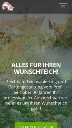 Vorschau der mobilen Webseite www.ihr-wunschgarten.de, Dieter Weiss, Gartengestaltung & Pflege
