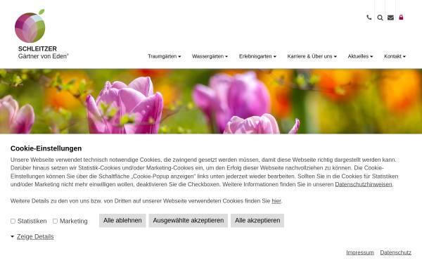 Vorschau von www.schleitzer.de, Schleitzer baut Gärten creativ & innovativ GmbH