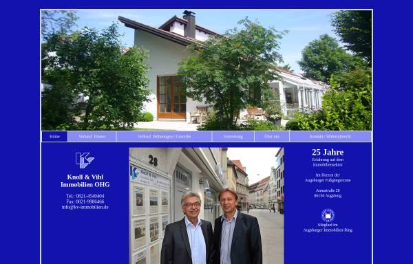 Vorschau von www.kv-immobilien.de, Knoll und Vihl Immobilien OHG
