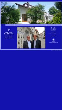 Vorschau der mobilen Webseite www.kv-immobilien.de, Knoll und Vihl Immobilien OHG