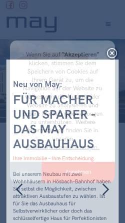 Vorschau der mobilen Webseite www.may-firmengruppe.de, May.Firmengruppe