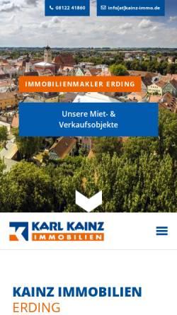Vorschau der mobilen Webseite www.kainz-immo.de, Karl Kainz Immobilien