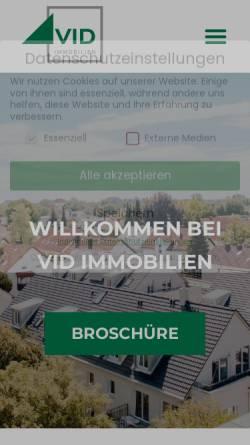 Vorschau der mobilen Webseite www.vid-immobilien.de, VID Immobilien GmbH