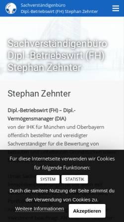Vorschau der mobilen Webseite zehnter-sv-kanzlei.de, Sachverständigenkanzlei - Stephan Zehnter