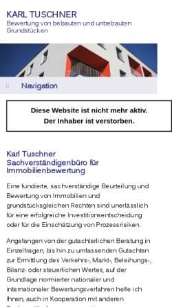 Vorschau der mobilen Webseite www.tuschner.biz, Karl Tuschner