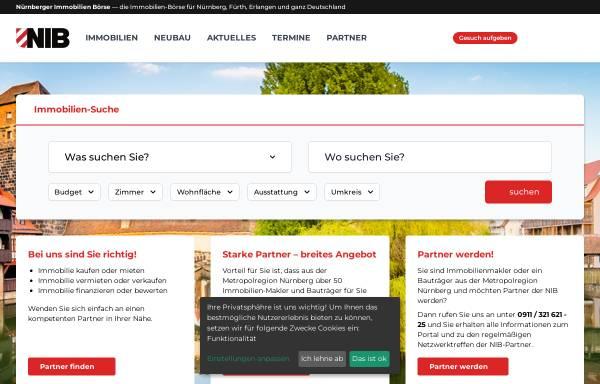 Vorschau von www.nib.de, Nürnberger Immobilien Börse