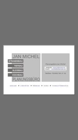 Vorschau der mobilen Webseite www.planung.ws, Planungsbüro Jan Michel