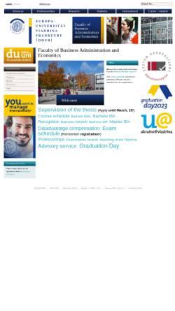 Vorschau der mobilen Webseite www.wiwi.euv-frankfurt-o.de, Wirtschaftswissenschaftliche Fakultät