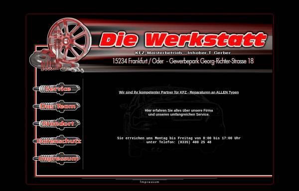 Vorschau von www.die-werkstatt-ffo.de, Kfz-Meisterbetrieb Detlef Günther & Thomas Gerber GbR
