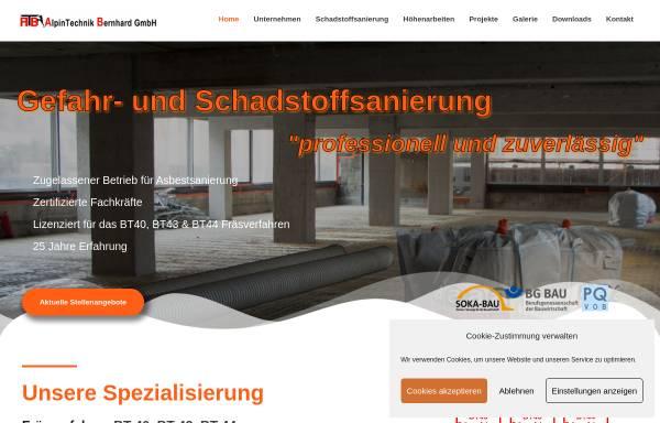 Vorschau von www.alpintechnik-bernhard.de, Alpintechnik Bernhard