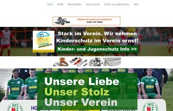 Vorschau von werderanerfc.de, Werderaner Fussballclub Victoria