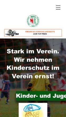 Vorschau der mobilen Webseite werderanerfc.de, Werderaner Fussballclub Victoria