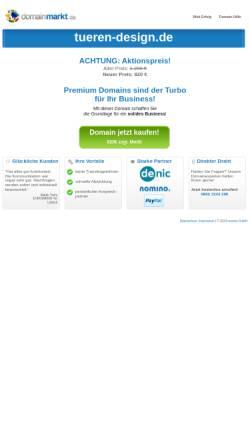 Vorschau der mobilen Webseite www.tueren-design.de, Angela Fischer design 2000